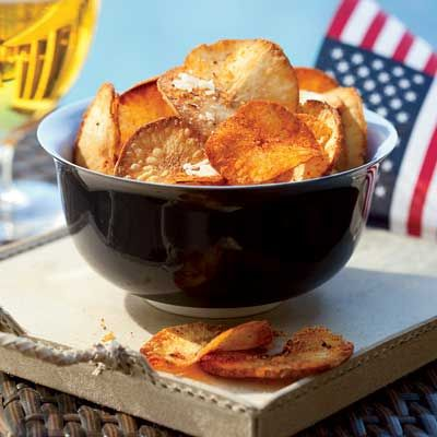 <p>Yucca, sometimes called cassava, is a starchy root that grows in very warm climates and makes super-crunchy chips. To remove the tough outer skin, use a sharp, heavy knife rather than a peeler.</p>http://www.delish.com/recipefinder/chile-cheese-yucca-chips-recipe-fw0710