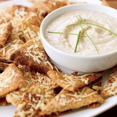 "<p>Crispy homemade pita chips are perfect for dipping, but they are also flavorful enough to hold their own on the snack table.</p><br /><p><b>Recipe: </b><a href=""http://www.delish.com/recipefinder/parmesan-pita-crisps"" target=""_blank""><b>Parmesan Pita Crisps</b></a></p>"