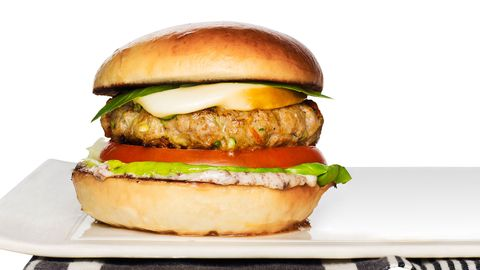 "<p>Think turkey can't be as juicy and delicious as beef? Think again. This recipe, packed with grated Italian veggies and topped with a gooey smoked mozzarella, makes a flavorful burger even beef-lovers can appreciate.</p> <p><b>Recipe: <a href=""http://www.delish.com/recipefinder/tuscan-turkey-burgers-recipe-rbk0413"">Tuscan Turkey Burgers</a></b></p>"