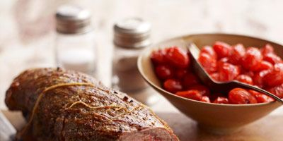 """<p>Braciole is traditionally cooked slowly, simmered in tomato sauce. This recipe is a quicker method: roasting the beef in high heat and pairing with tiny sweet grape tomatoes.</p><p><b>Recipe: </b><a href=""""http://www.delish.com/recipefinder/braciole-grape-tomatoes-recipe?click=recipe_sr""""><b>Braciole with Grape Tomatoes</b></a></p>"""