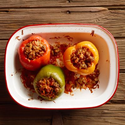 "<p>Add a little color to the dinner table! Try these bell peppers stuffed with savory Jimmy Dean® Pork Sausage, rice, and Parmesan cheese, smothered in a tasty tomato sauce.</p> <p><b>Recipe: <a href=""http://www.delish.com/recipefinder/slow-cooker-stuffed-peppers-recipe-jd0114"">Slow Cooker Stuffed Peppers</a></b></p>"