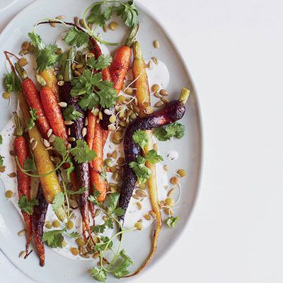 "<p>This lovely dish combines a trio of ingredients from the same family: sweet roasted carrots, coriander, and caraway.</p><p><b>Recipe:</b> <a href=""http://www.delish.com/recipefinder/roasted-carrots-caraway-coriander-recipe-fw1013""><b>Roasted Carrots with Caraway and Coriander</b></a></p>"