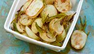 "These elegant baby turnips — tossed in a mustard, scallion, and parsley vinaigrette and roasted to bring out their sweetness — can be served warm or cold.<br /><br /><b>Recipe:</b> <a href=""/recipefinder/roasted-baby-turnips-parsley-mustard-vinaigrette-recipe-fw0910"" target=""_blank""><b>Roasted Baby Turnips with Parsley-Mustard Vinaigrette</b></a>"