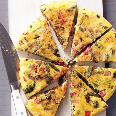 "<p>Frittatas are great warm or at room temperature, making this a smart meal for a busy night when not everyone in the family can sit down to dinner at the same time.</p><p><strong>Recipe:</strong> <a href=""http://www.delish.com/recipefinder/vegetable-frittata-roasted-potatoes-garlic-recipe-mslo0114""><strong>Vegetable Frittata with Roasted Potatoes and Garlic</strong></a></p>"