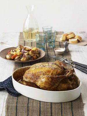 "<p>A seemingly gourmet roasted chicken with hints of tarragon.</p><p><strong>Recipe:</strong> <a href=""http://www.delish.com/recipefinder/tarragon-chicken-roasted-vegetables-recipe-rbk0311""><strong>Tarragon Chicken With Roasted Vegetables </strong></a></p>"