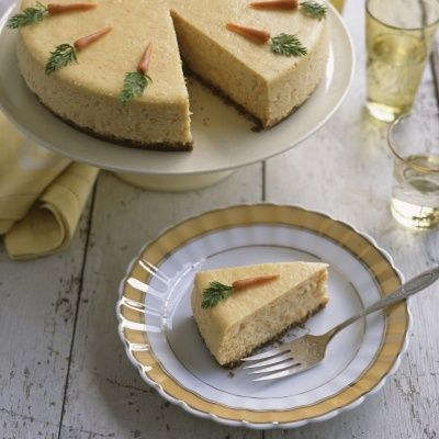 "<p>Rich cheesecake topped with marzipan carrots takes warm spices and cream cheese icing (carrot cake's best features) and reinvents them.</p> <p><strong>Recipe: <a href=""http://www.delish.com/recipefinder/carrot-cheesecake-marzipan-carrots-recipe-mslo0414"" target=""_blank"">Carrot Cheesecake with Marzipan Carrots</a></strong></p>"