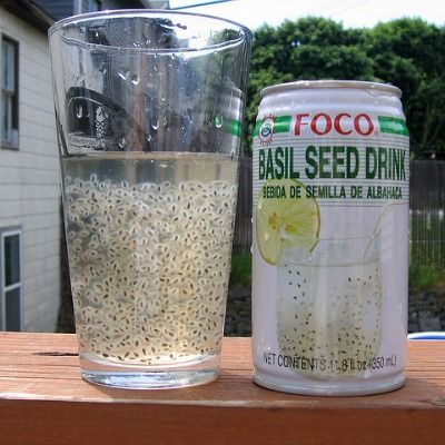<p>This drink might look like it's fully of tiny tadpoles, but those little jelly-covered bits are actually basil seeds. Basil seed drinks are often also seen with honey, lemon, or other flavorings, but the tiny seeds are always suspended in the liquid, similar to another well-known Asian treat, the bubble tea.</p>