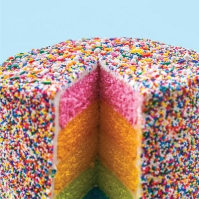 "<p>This bright, multihued cake is a festive addition to any party. for a full-color effect, dye the layers to match a rainbow. or let your imagination take flight. Create your own palette by tinting the cake layers to coordinate with the jimmies, nonpareils, or dragées of your choice.</p> <p><strong>Recipe: <a href=""http://www.delish.com/recipefinder/rainbow-layer-cake-recipe-del0114"" target=""_blank"">Rainbow Layer Cake</a></strong></p>"