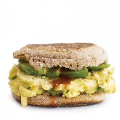<p>Soft scrambled eggs and creamy avocado slices make for a delectable vegetarian breakfast sandwich. Since this sandwich only calls for one quarter of an avocado, it's the perfect way to use up leftovers from the previous night's dinner.</p>