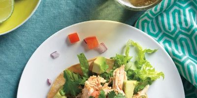 """<p>Dress these salads with your favorite Mexican flavors. We like tomato, avocado, red onion, and cilantro, but you can also add salsa, sour cream, or taco sauce to the mix.</p> <p><strong>Recipe:</strong> <a href=""""http://www.delish.com/recipefinder/chicken-tostada-salad-recipe-mslo0114"""" target=""""_blank""""><strong>Chicken Tostada Salad</strong></a></p>"""