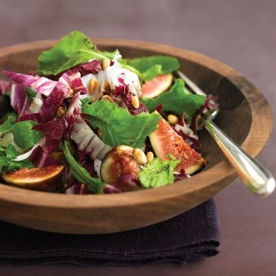 "<p>Rich in fiber and potassium, figs are a nutritious addition to a salad. Arugula offers plenty of vitamins A and C, and pine nuts have vitamin K. </p> <p><br/><strong>Recipe: <a href=""http://www.delish.com/recipefinder/arugula-salad-figs-pine-nuts-radicchio-recipe-mslo0814"" target=""_blank"">Arugula Salad with Figs, Pine Nuts, and Radicchio</a></strong></p>"