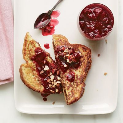 "<p>This fluffy, nutty breakfast is a playful, delicious mash-up of French toast and PB and J. Instead of peanut butter, it's made with almond butter.</p> <p><b>Recipe: <a href=""http://www.delish.com/recipefinder/almond-butter-jelly-french-toast-recipe-fw0113"">Almond-Butter-and-Jelly French Toast</a></b></p>"