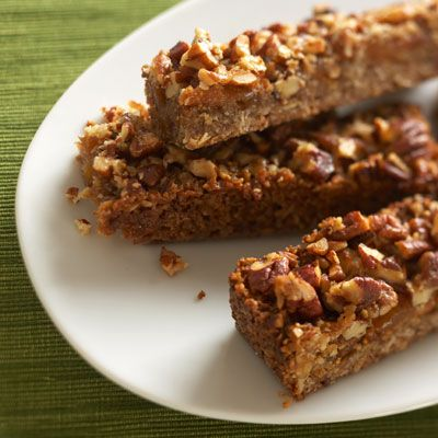 "<p>We love the sweet multigrain crust in these wholesome dried-fruit bars.</p> <p><b>Recipe: <a href=""http://www.delish.com/recipefinder/fig-apricot-fruit-bar-recipe"" target=""_blank"">Fig and Apricot Bars</a></b></p>"