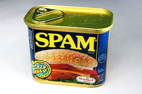 "<p>While most people assume SPAM is short for ""spiced ham,"" only a handful of people know its true origin — and they're not telling. The name was actually suggested in naming contest by Ken Daigneau, a Hormel VP's brother, before the product was introduced in 1937. Daigneau won a naming contest and $100. Other theories include ""special processed American meat"" and ""shoulders of pork and ham."" </p>"
