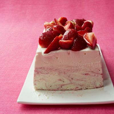 "<p>For an especially hot day, try a no-bake, frozen cheesecake full of fresh, ripe strawberries.</p> <p><strong>Recipe:</strong> <a href=""http://www.delish.com/recipefinder/strawberry-ice-cream-cheesecake-recipe-wdy0812"" target=""_blank""><strong>Strawberry Ice Cream Cheesecake</strong></a></p>"