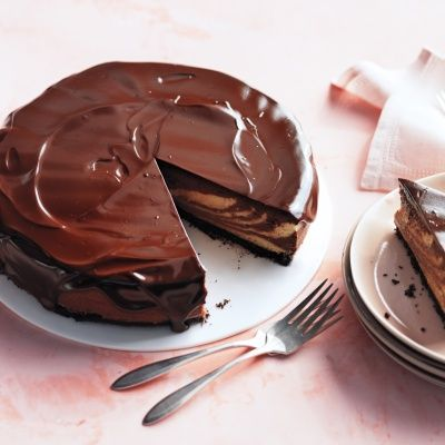 "<p>This cheesecake is a fresh take on a familiar combination. It's not too sweet and has a voluptuous consistency. The glossy chocolate glaze goes on like satin.</p> <p><strong>Recipe: <a href=""http://www.delish.com/recipefinder/chocolate-peanut-butter-cheesecake-glaze-recipe-mslo0514"" target=""_blank"">Chocolate-Peanut Butter Cheesecake with Chocolate Glaze</a></strong></p>"