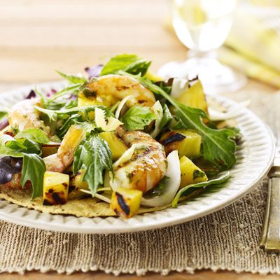 "<p>If you're already grilling the shrimp, why not throw on pineapples as well? The heat will intensify the flavor by reducing the water, and this salad is the perfect introduction to the wonders of grilled fruit.</p><p><b>Recipe: </b><a href=""http://www.delish.com/recipefinder/shrimp-pineapple-salad-basil-ghk""><b>Shrimp and Pineapple Salad with Basil and Baby Greens</b></a></p>"