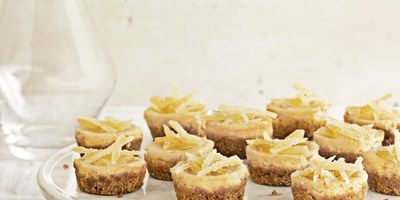 """<p>Distinctive and delightful tang is infused in these tiny treats, infused with a combination of lemon and ginger.</p> <p><strong>Recipe: <a href=""""http://www.delish.com/recipefinder/mini-brown-sugar-cheesecakes-recipe-clv1212"""" target=""""_blank"""">Mini Brown-Sugar Cheesecakes</a></strong></p>"""
