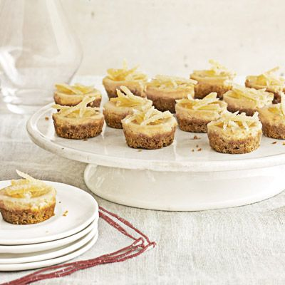 "<p>Distinctive and delightful tang is infused in these tiny treats, infused with a combination of lemon and ginger.</p> <p><strong>Recipe: <a href=""http://www.delish.com/recipefinder/mini-brown-sugar-cheesecakes-recipe-clv1212"" target=""_blank"">Mini Brown-Sugar Cheesecakes</a></strong></p>"
