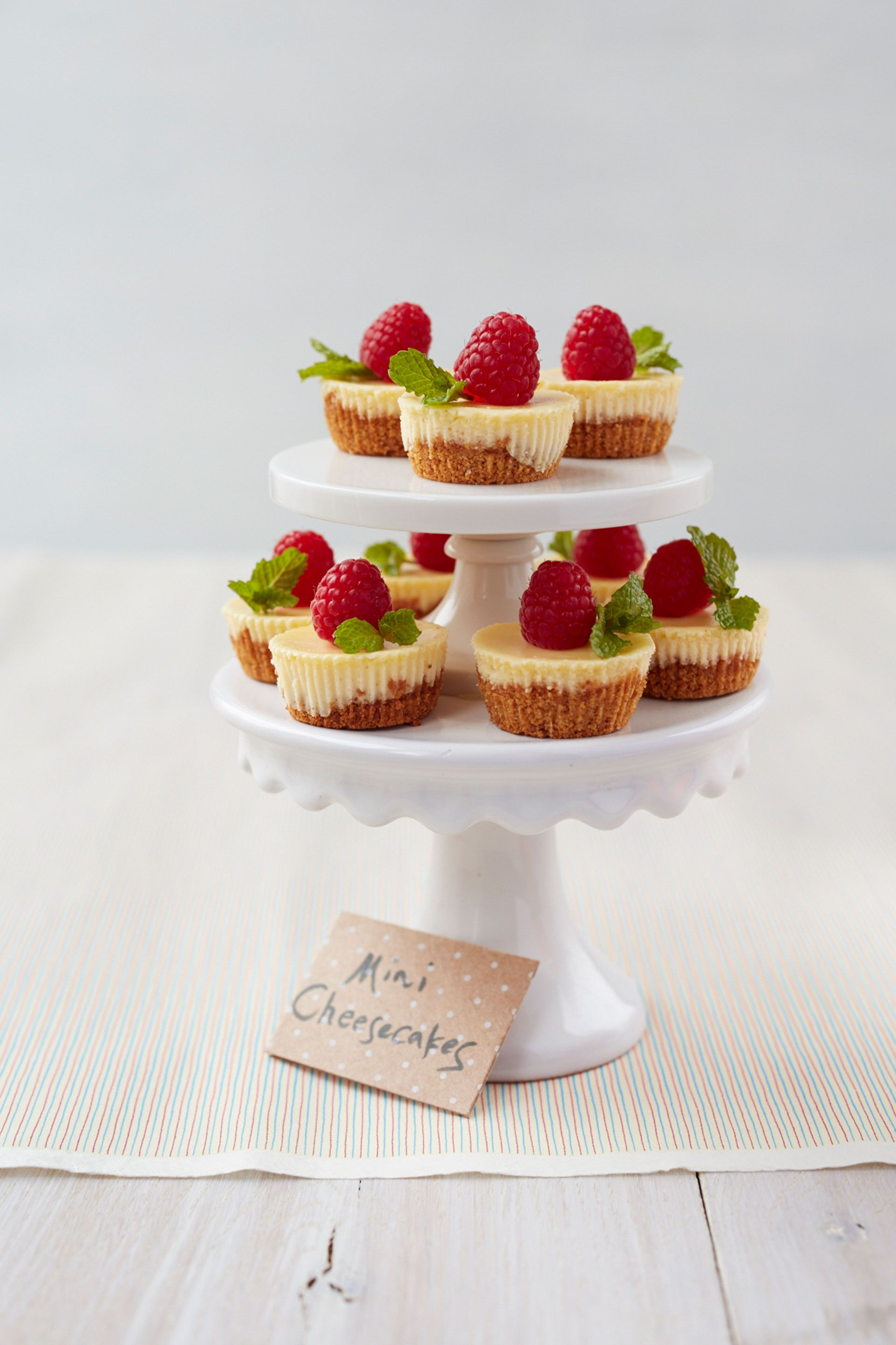 "<p>Feeling creative? These miniature cheesecakes are the perfect base for a variety of toppings; anything from fresh farmer's market berries to whipped cream and crumbled cookies will work.</p> <p><strong>Recipe: <a href=""http://www.delish.com/recipefinder/mix-match-mini-cheesecakes-recipe-ghk0514"" target=""_blank"">Mix and Match Mini Cheesecakes</a></strong></p>"