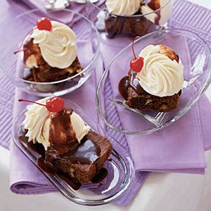 """<p>There will be no judgement if your mound of whipped cream is larger than both your brownie and your scoop of ice cream. You know what you like.</p> <p><strong>Recipe: <a href=""""http://www.delish.com/recipefinder/brownie-sundaes-121240"""" target=""""_blank"""">Brownie Sundaes</a></strong></p>"""