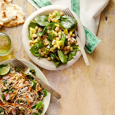 "<p>This aromatic salad borrows flavors from Indian cuisine and is packed with vitamins and antioxidants, thanks to a combination of chickpeas, mango, baby spinach, and almonds. </p><p><strong>Recipe:</strong> <a href=""http://www.delish.com/recipefinder/chickpea-mango-salad-recipe-ghk0613"" target=""_blank""><strong>Chickpea and Mango Salad</strong></a></p>"