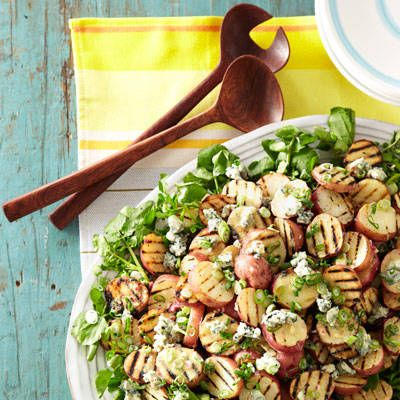 "<p>Blue cheese gives this creamy grilled potato salad some punch, making it a flavorful summer side dish.</p><p><strong>Recipe:</strong> <a href=""http://www.delish.com/recipefinder/grilled-potato-salad-blue-cheese-vinaigrette-recipe-ghk0712""><strong>Grilled Potato Salad with Blue Cheese Vinaigrette </strong></a></p>"