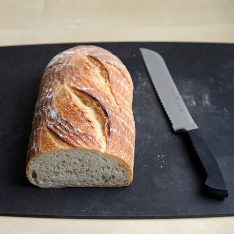 Day-old bread has lost some of its moisture and is sturdier, making for a better crouton.