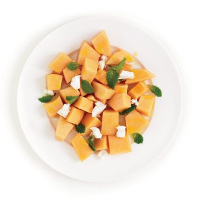 "<p>This refreshing dish is ideal for cooling down the clan on scorching-hot summer days.</p><p><b>Recipe: <a href=""http://www.delish.com/recipefinder/cantaloupe-goat-cheese-salad-recipe-ghk0610"">Cantaloupe Goat Cheese Salad</a></b></p>"