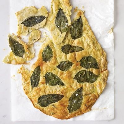 "<p>A mix of chopped and whole fresh basil transforms ordinary crackers into herb-infused snacks.</p> <p><strong>Recipe: <a href=""http://www.delish.com/recipefinder/basil-flatbread-crackers-recipe-mslo0614"" target=""_blank"">Basil Flatbread Crackers</a></strong></p>"
