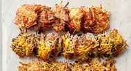 "<p>Our trick to preparing these hash browns for a crowd: individual patties that are baked instead of fried. Make them up to 2 hours ahead and reheat in a 350-degree F oven for 10 minutes, or until warmed through.</p>  <p><strong>Recipe:</strong> <a href=""http://www.delish.com/recipefinder/spicy-southern-hash-browns-recipe-ghk0514""><strong>Spicy Southern Hash Browns</strong></a></p>"