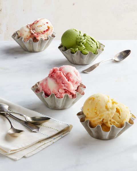 """<p>Even without an ice cream maker, you can make simple, satisfying frozen desserts at home using this recipe as your base.</p> <p><strong>Recipe: <a href=""""http://www.delish.com/recipefinder/creamy-vanilla-frozen-yogurt-recipe-clx0614"""" target=""""_blank"""">Creamy Vanilla Frozen Yogurt</a></strong></p>"""