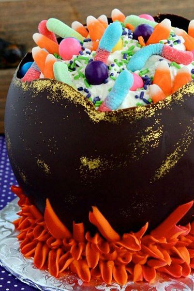 Peachy 20 Easy Halloween Cakes Recipes And Ideas For Decorating Funny Birthday Cards Online Inifofree Goldxyz