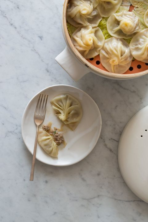 "<p>Pork, ginger, and a dash of soy wrapped up in dumplings that will melt in your mouth. That's comfort food you'll want to eat all the time.</p> <p><strong>Get the recipe from <a href=""http://www.spoonforkbacon.com/2014/06/shanghai-soup-dumplings/"" target=""_blank"">Spoon Fork Bacon</a>.</strong></p>"