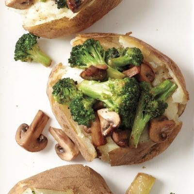 "<p>These warm, stuffed baked potatoes are packed with extra veggies for the perfect mix of health and comfort. Slow cooking makes the potatoes incredibly tender, not to mention, less mess!</p> <p><strong>Recipe: <a href=""http://www.delish.com/recipefinder/loaded-slow-cooker-baked-potatoes-recipe-mslo1014"" target=""_blank"">Loaded Slow-Cooker Baked Potatoes</a></strong></p>"