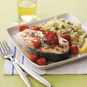 "<p>With only just three ingredients, including grape tomatoes, you have a gourmet, easy weeknight meal.</p><p><strong>Recipe:</strong> <a href=""http://www.delish.com/recipefinder/roasted-salmon-grape-tomatoes-recipe-122336""><strong>Roasted Salmon & Grape Tomatoes</strong></a></p>"