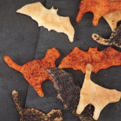 """<p>Get ready to feel a little thrill as you munch on these different flavored crackers ranging from a jolting paprika and Parmesan to nutty poppy seeds this Halloween!</p> <p><strong>Recipe: <a href=""""http://www.delish.com/recipefinder/scaredy-crackers-recipe-mslo0914"""" target=""""_blank"""">Scaredy Crackers</a></strong></p>"""
