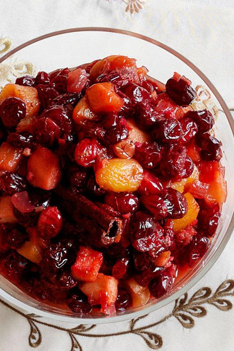 Spiced and sweet, this cranberry sauce-alternative bursts with the bright flavors of fresh cranberry, Golden Delicious apples, lemon, ginger, and cinnamon.