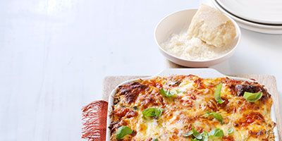"""<p>If you like a classic eggplant parm, then you'll absolutely love our eggplant parmesan turned into lasagna. There's no way you're leaving the table hungry!</p> <p><strong>Recipe: <a href=""""http://www.delish.com/recipefinder/eggplant-parmesan-lasagna-recipe-wdy0913"""" target=""""_blank"""">Eggplant Parmesan Lasagna</a></strong></p>"""