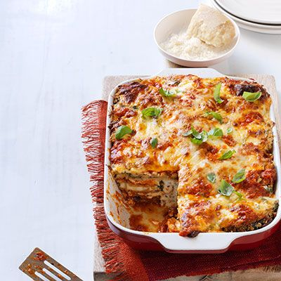 "<p>If you like a classic eggplant parm, then you'll absolutely love our eggplant parmesan turned into lasagna. There's no way you're leaving the table hungry!</p> <p><strong>Recipe: <a href=""http://www.delish.com/recipefinder/eggplant-parmesan-lasagna-recipe-wdy0913"" target=""_blank"">Eggplant Parmesan Lasagna</a></strong></p>"
