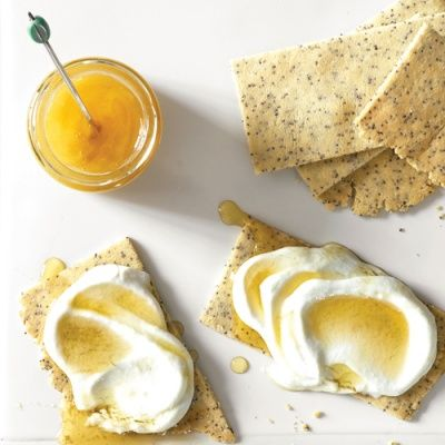 """<p>Intensely flavored almond flour gives these poppy crackers a buttery crispness, along with a measure of protein, calcium, vitamin E, and folic acid.</p> <p><strong>Recipe: <a href=""""http://www.delish.com/recipefinder/almond-poppy-crackers-cottage-cheese-honey-recipe-mslo0914"""" target=""""_blank"""">Almond Poppy Crackers with Cottage Cheese</a></strong></p>"""