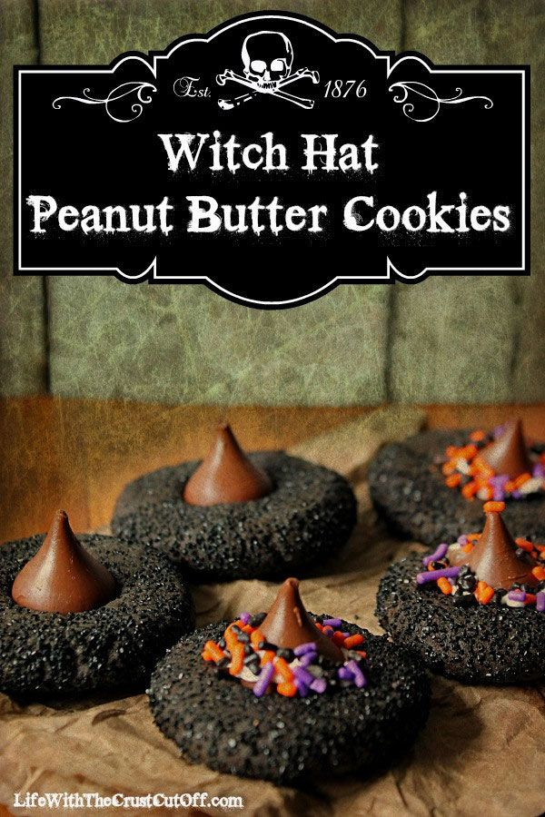 Witch Hat Peanut Butter Cookies