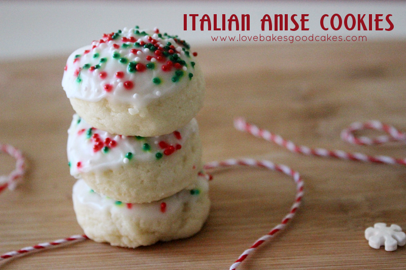 red and green cookie recipes - Italian Christmas Cookies Anise