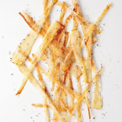 """These crisp, salty, and smoky vegetable strips are from chef Quinn Hatfield of <a href=""""http://www.hatfieldsrestaurant.com/"""" target=""""_blank"""">Hatfield's</a> in L.A.<br /><br /><b>Recipe:</b> <a href=""""/recipefinder/parsnip-bacon-recipe-fw1110"""" target=""""_blank""""><b>Parsnip Bacon</b></a>"""