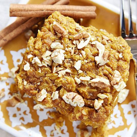 "<p> </p> <p><strong>Get the recipe from <a href=""http://www.fivehearthome.com/2014/09/04/pumpkin-baked-oatmeal-with-maple-pecans-dairy-free/"" target=""_blank"">Chocolate-Covered Katie</a>.</strong></p>"