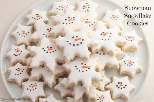 Winter Themed Treats Frosty Snowman Pretzels Cute Food