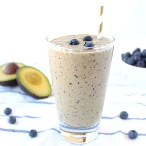 "<p>Whitney Bond developed this winning flavor combination to help her skin look younger and smoother (both blueberries and avocados contain skin-boosting vitamins). A tasty breakfast that's good for your health <i>and</i> your look? That's the right way to start the day.</p>  <p><b>Get the recipe from <a href=""http://littleleopardbook.com/2014/09/08/skin-boosting-blueberry-avocado-smoothie/"" target=""_blank"">Little Leopard Book</a></b>.</p>"