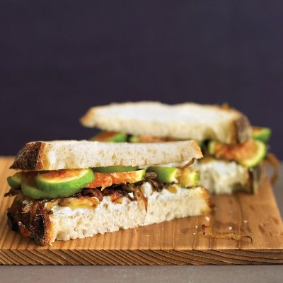 "<p></p> <p><strong>Recipe: <a href=""http://www.delish.com/recipefinder/fig-goat-cheese-caramelized-onion-sandwiches-recipe-mslo0814"" target=""_blank"">Fig, Goat Cheese, and Caramelized Onion Sandwiches</a></strong></p>"