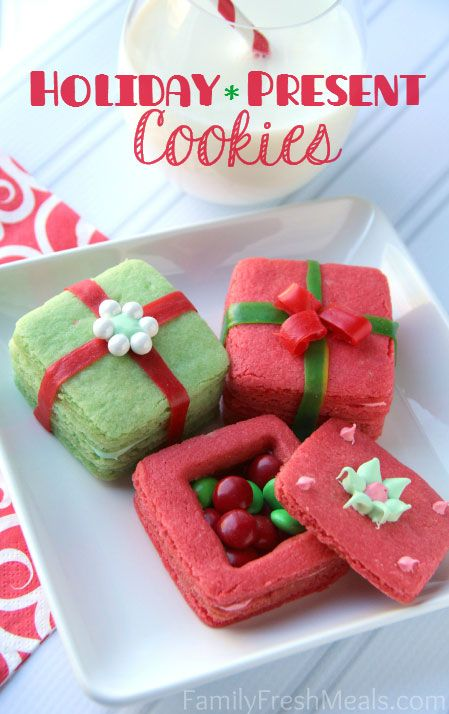 """<p> </p> <p><strong>Get the recipe from <a href=""""http://www.familyfreshmeals.com/2013/12/crafty-cookies-kids-3d-present-cookies.html"""" target=""""_blank"""">Family Fresh Meals</a>.</strong></p>"""