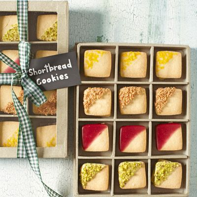 """<p>A basic shortbread is a must-have holiday recipe. Here, the cookies get dressed up in a variety of colorful and tasty glazes, making them perfect for gifting.</p> <p><b>Recipe:</b> <a href=""""http://www.delish.com/recipefinder/shortbread-cookies-recipe-clv1212"""" target=""""_blank""""><b>Shortbread Cookies</b></a></p>"""